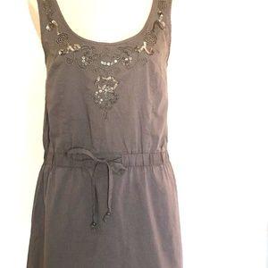 Ann Taylor Loft Drawstring Waist Sleeveless  Dress